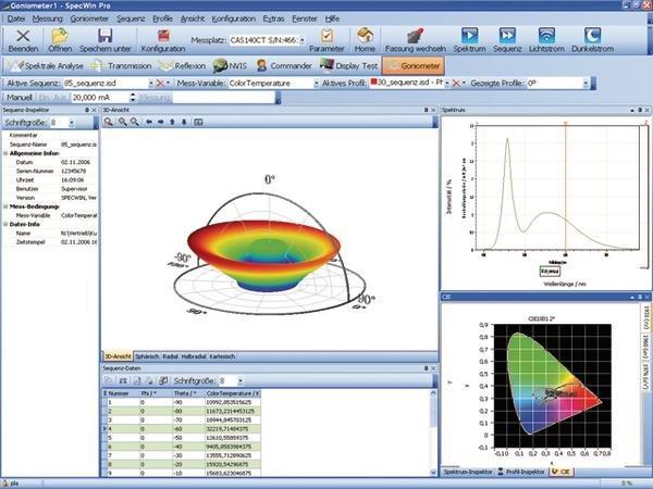 analyse software f r optische spektrometer parameter. Black Bedroom Furniture Sets. Home Design Ideas