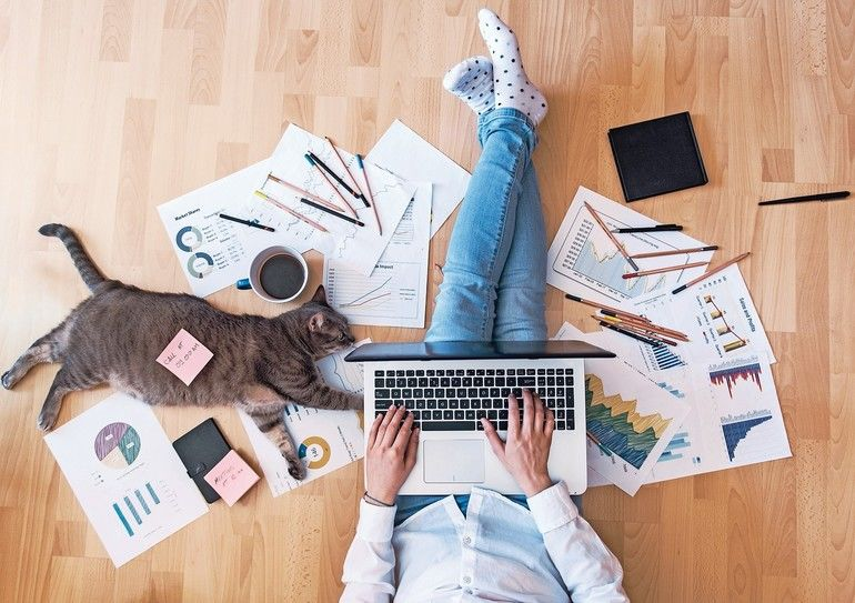 creative_home_work_space_-_work_from_home_concept_-_girl_with_cat